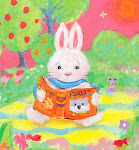 Bunny reads about Koalas