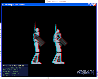 Anaglyph robot rendering