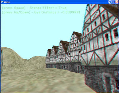 Screen capture of XNA anaglyph demo