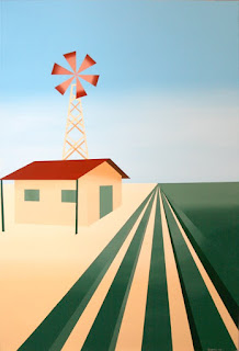 a painting a day abstract windmill