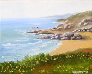 At the Bay Painting - Daily Painting Blog - Original Oil and Acrylic Artwork by Artist Mark Webster