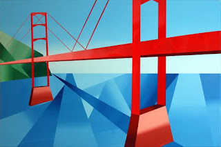 The Bridge - Daily Painter - Original Oil and Acrylic Art - Painting a Day by California Artist Mark A. Webster