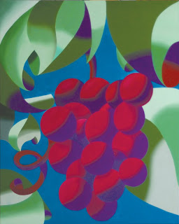Daily Painters - Abstract Futurist Grapes - Abstract Futurism - Daily Painter - Original Oil and Acrylic Art - Painting a Day by California Artist Mark A. Webster