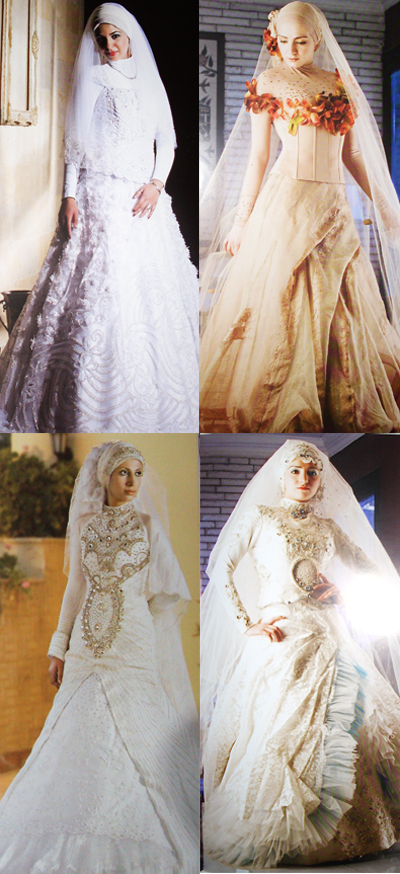 Bridal Dresses on Wedding Lights  New Collection Of Hijab Wedding Dresses 2011