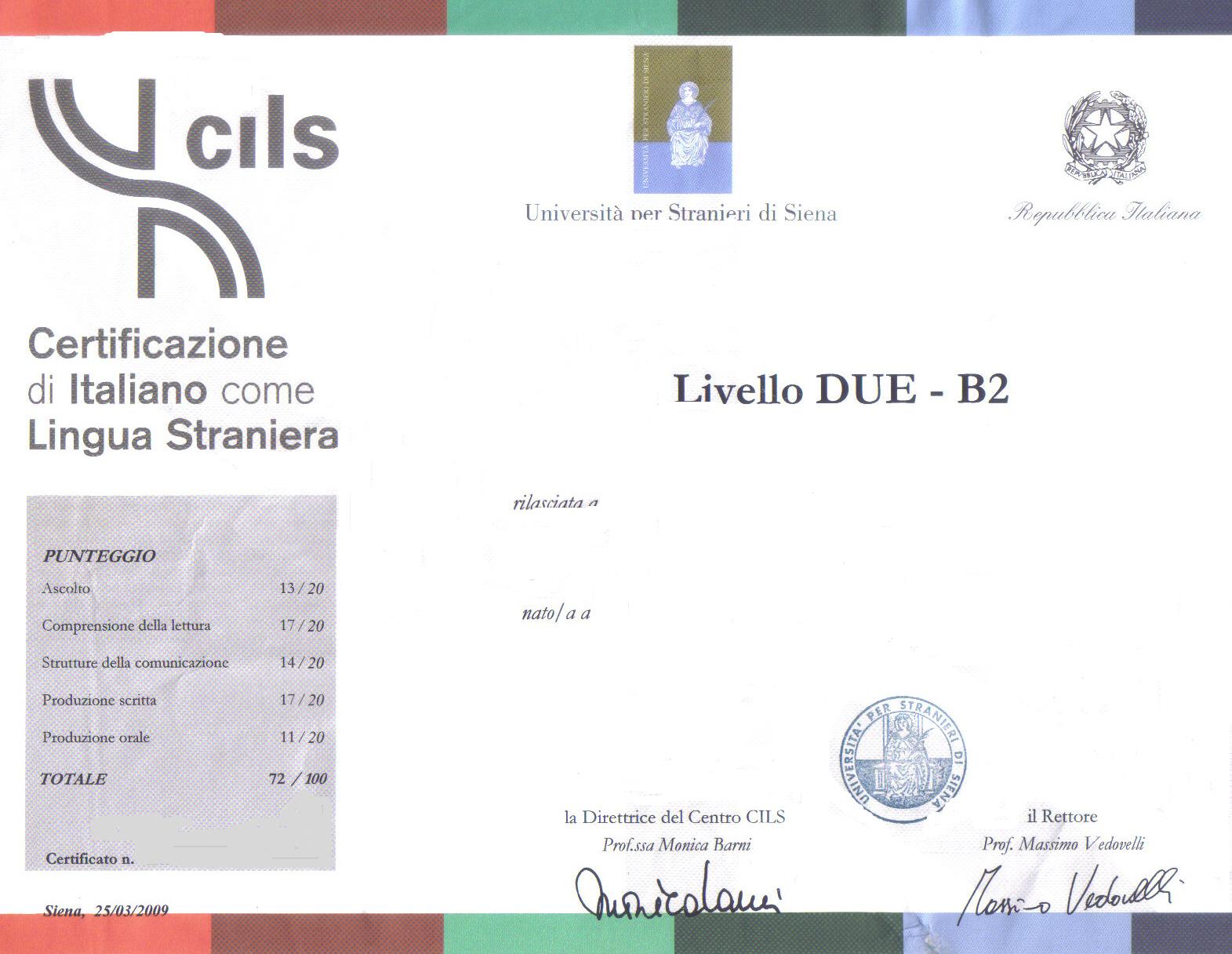 Stran ier omavero 29 ottobre palermo cils l italiano for Test italiano per carta di soggiorno 2016