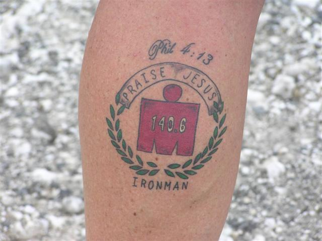 The M-DOT Ironman Tattoo is a mark of pride for many triathletes File Photo