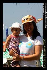 baby Pam and Mama during the second day of the Surfing Break 5