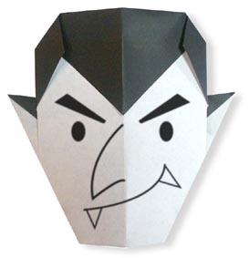 Halloween Origami Dracula