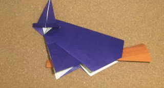 Halloween Origami Witch and Broom