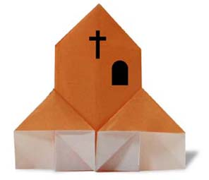 Origami Church - Origami Christmas