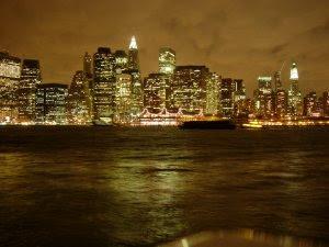 New York Skyline on A Cloudy Night