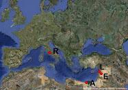 Carte des ateliers monétaires