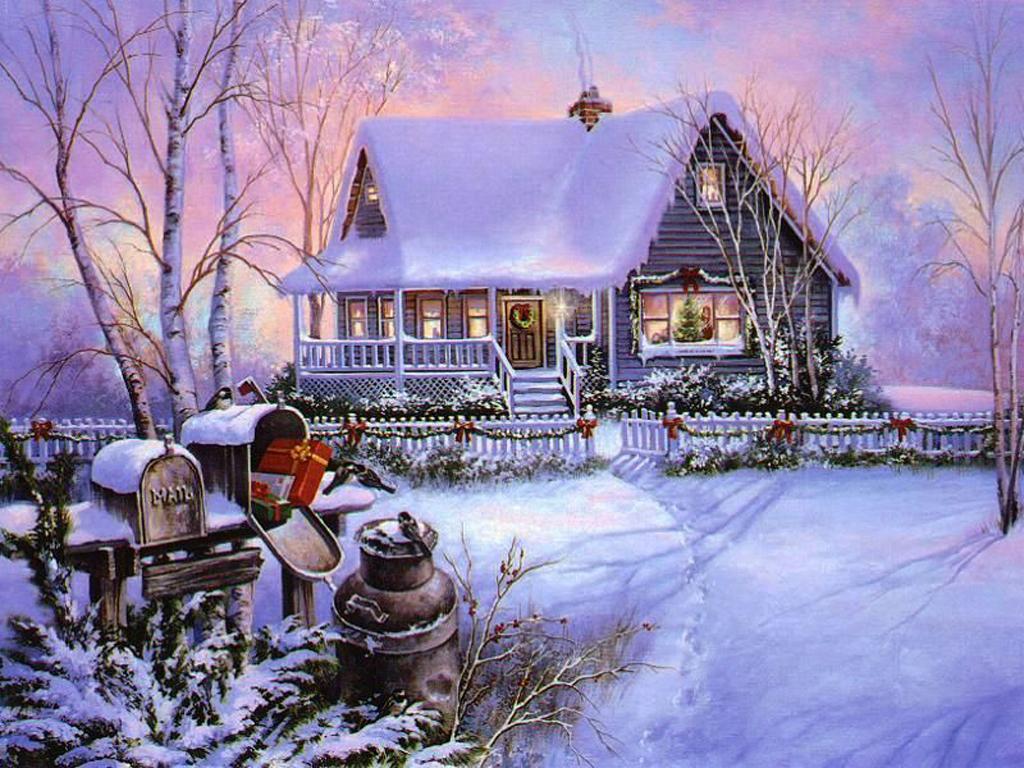 Mellow S Log Cabin Christmas Post