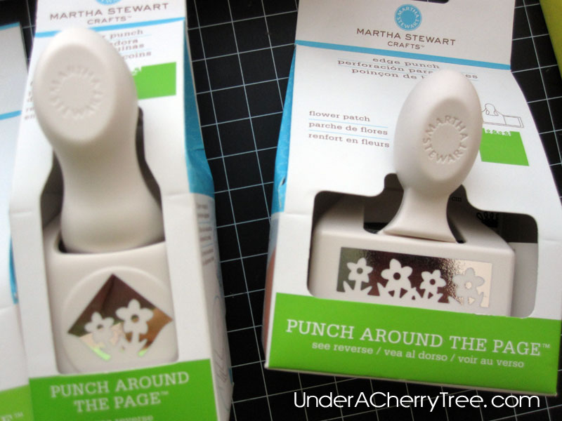 Under a cherry tree a michaels shopping trip martha stewart punches i was particularly happy about finding the cupcake corner punch because i already have the cupcake border edge punch mightylinksfo