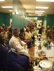 Ekpe guests relaxing at the First Ekpe Society Conclave in Beltsville, MD.