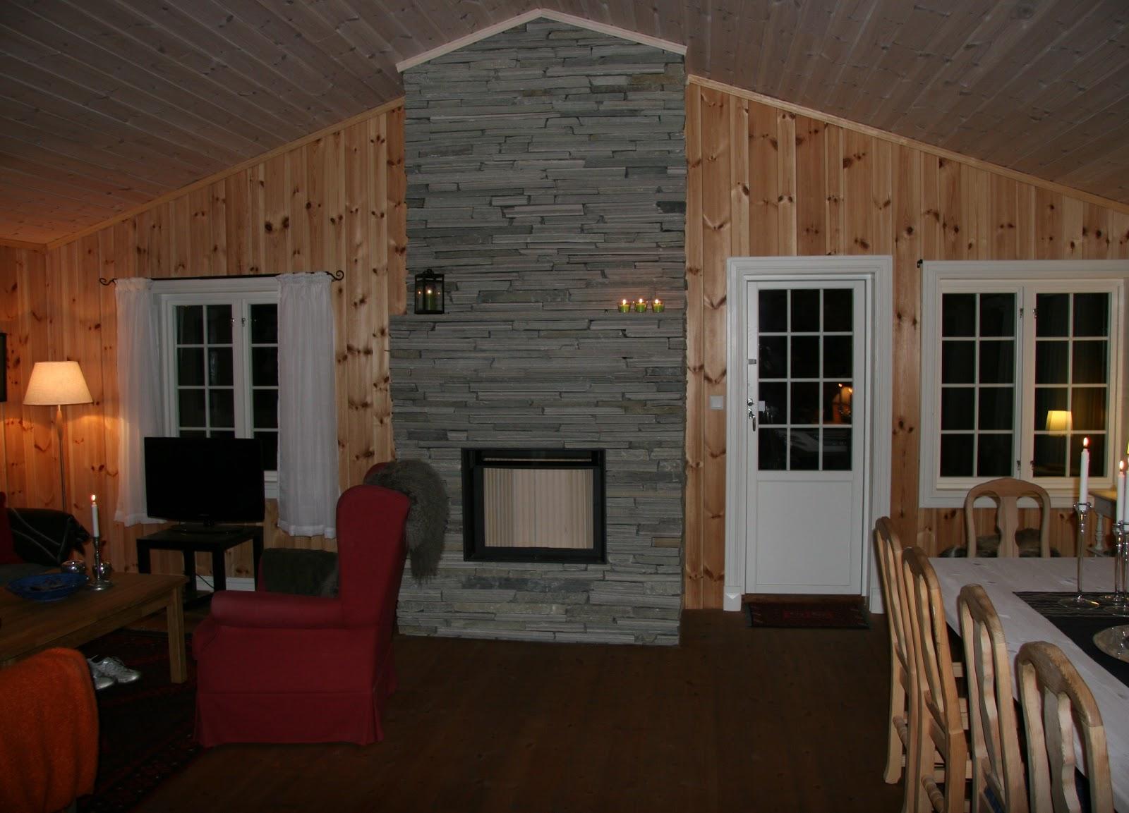 fjerne peis hytte