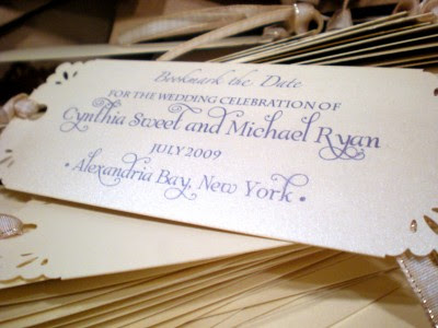 Dollar Budget Wedding DIY Bookmark Save The Dates - Make your own save the date cards templates