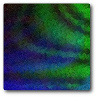 Blue, Green, and Black Abstract by Cindy Sue