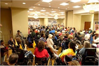 Approximately 100 ADAPT Activists In A Conference Room