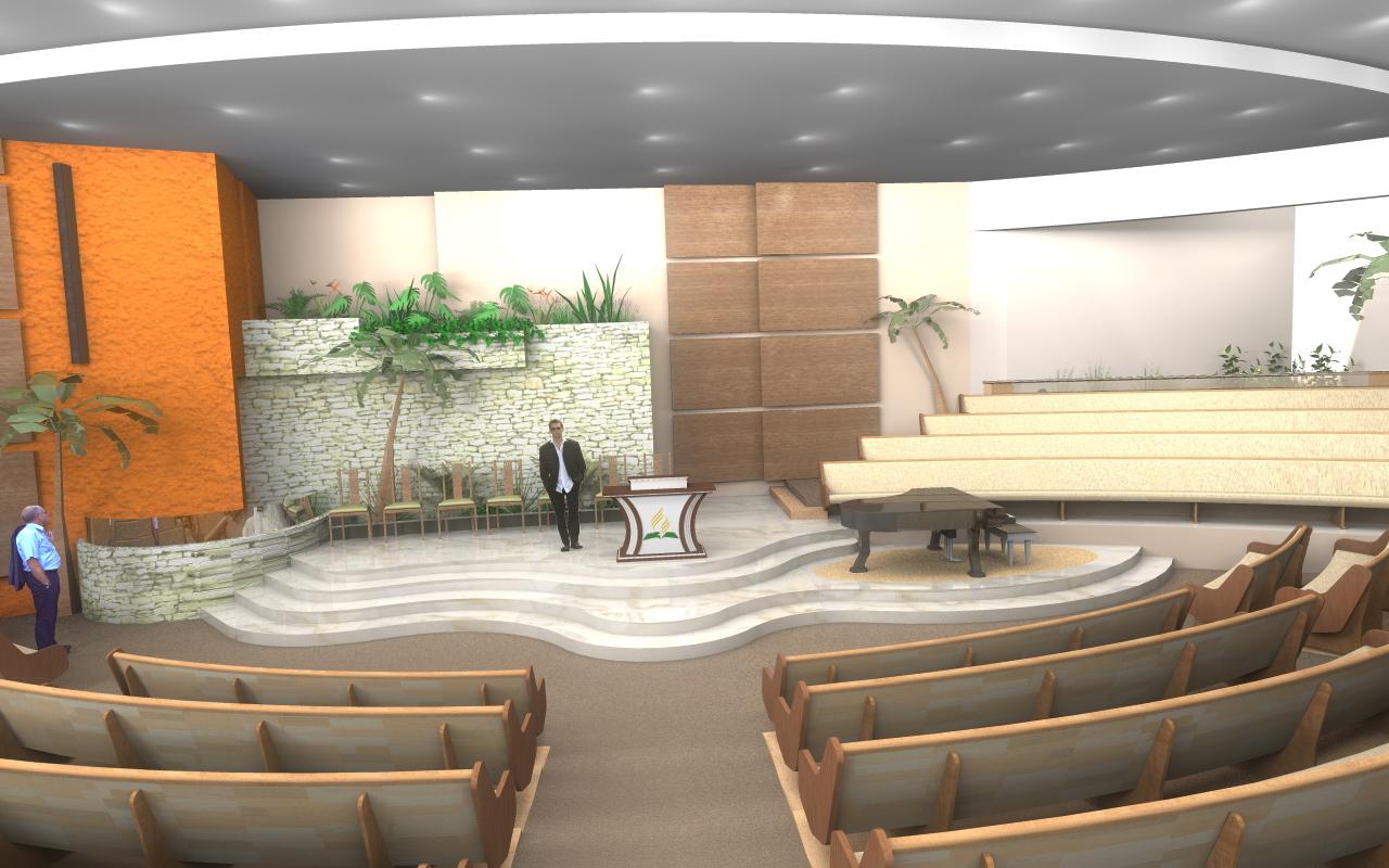 3D HeeS: Grande Projeto Igreja Adventista São Caetano 3D #B35D18 1280 800