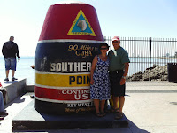 Teri and Bob at the southernmost point, Key West, FL