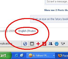 Facebook Pirate Language