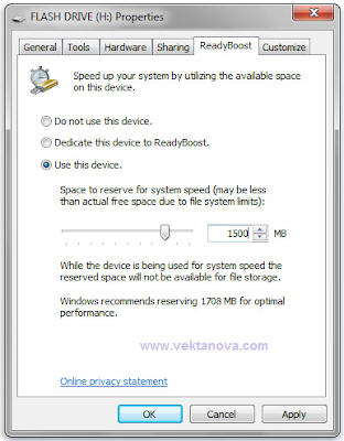 Using Memory in Your Storage Device to Speed Up Your Windows Seven Computer