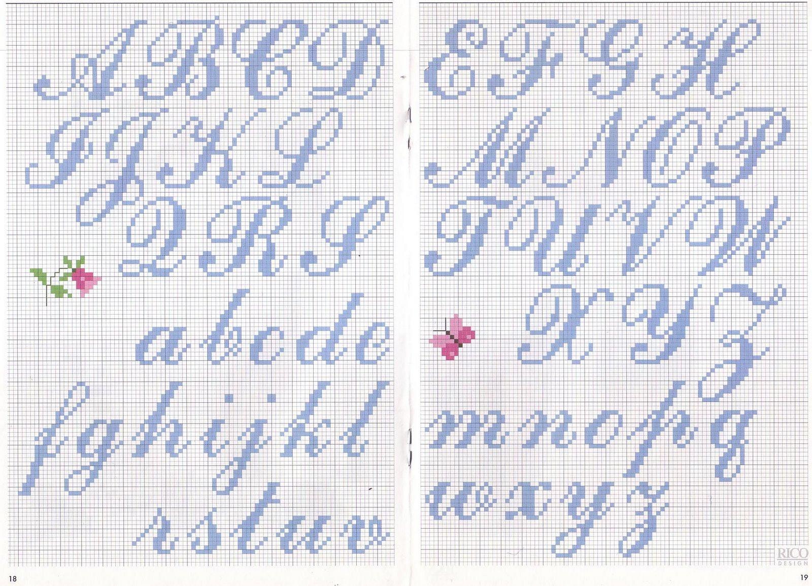 karilla e o ponto cruz monograma   letra de m o