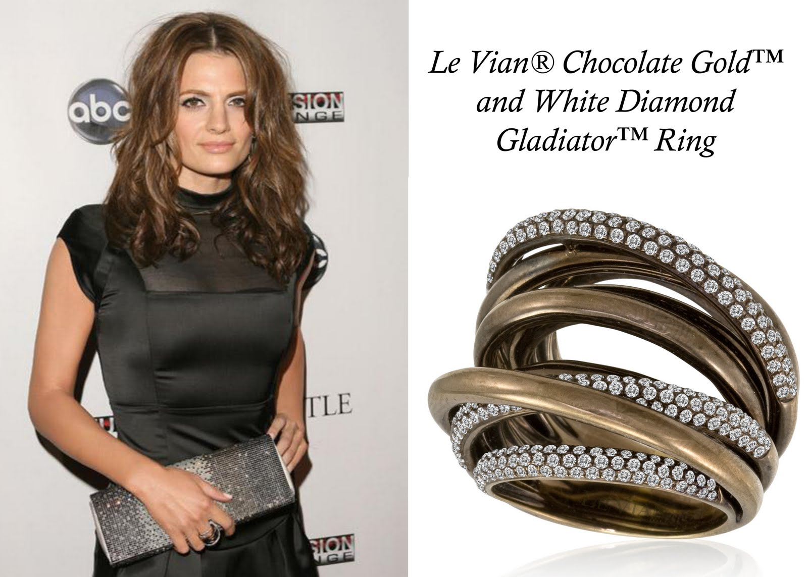 Stana Katic wearing Le Vian Jewelry
