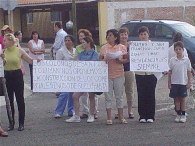 COLONOS INCONFORMES DE SAN FRANCISCO Y TOLIMAN, JURIQ