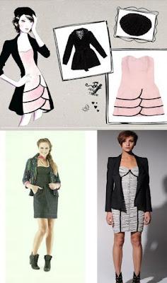 combinação de vestidos taomara que caia com blazers
