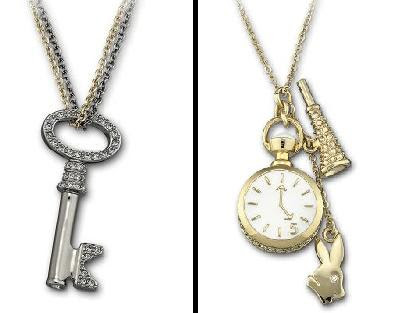 Cordão Swarovski Chave e Relógio Alice