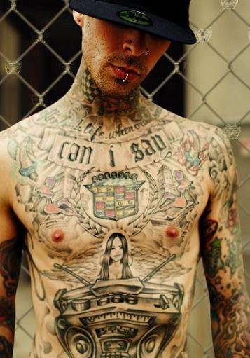 Tattoo Styles For Men and Women: Travis Barker Tattoo Styles