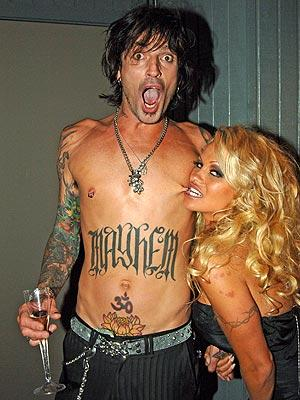 Celebrities Tattoo-Tommy Lee-Pamela Anderson