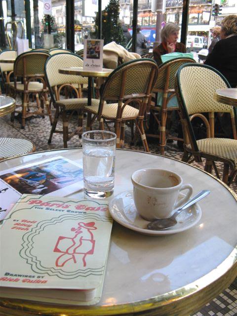 Paris Breakfasts Paris Cafe - Paris cafe table