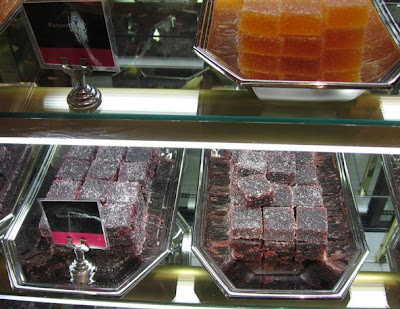 trays and trays of  Fauchon's Pates de Fruits