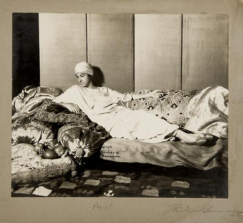 Denise Poiret in a chemise at the Park Avenue Hotel in New York