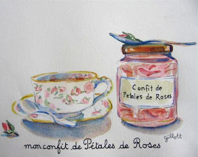 Paris Breakfasts watercolor