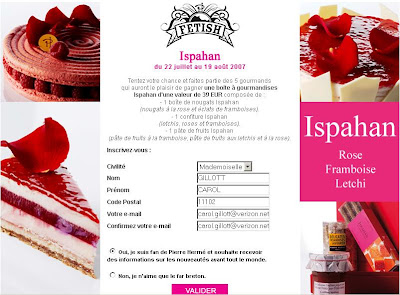 A Pierre Herme Ispahan contest is going on...
