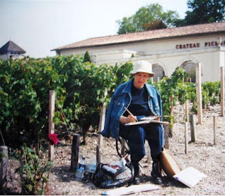 The grape picker artiste in pleine aire...