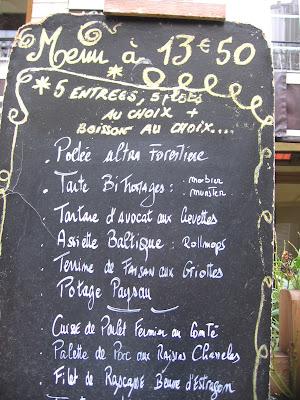 Menus Ardoises - ParisBreakfasts