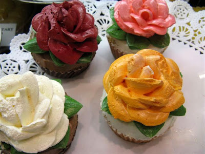 Eli Zabars Flower Cupcakes