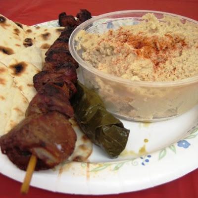 armenian festival, lamb kabob, hummus