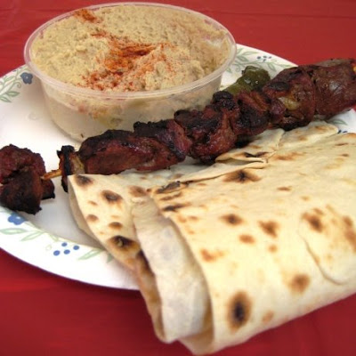 armenian festival, lamb kabob, hummus
