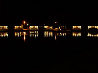 Night View of made lake/fountain