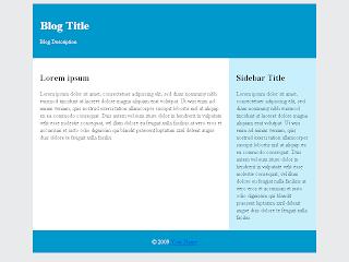 Исходная страница для будущего шаблона Blogger