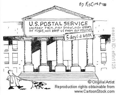 Cartoon Post Office Building Cartoons( usa) post office