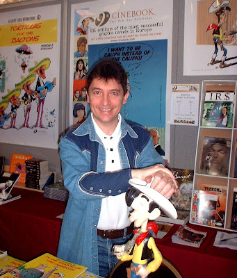 Cinebook's Olivier Cadic with his Offerings