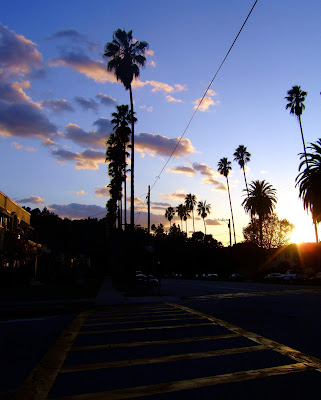 sunset+crosswalk+with+palms+and+clouds Jack Frost nipping at your nose...  photo