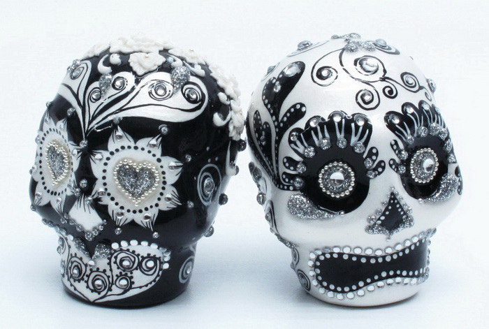 Skull Wedding Cake Toppers: Skull Lover Wedding Cake ...